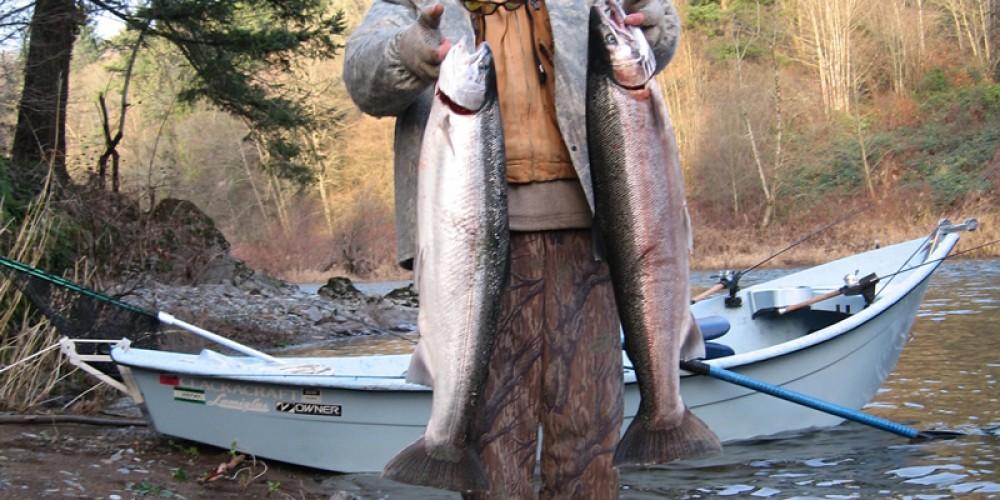 Kalama river winter steelhead fishing sts guide service for Kalama river fishing