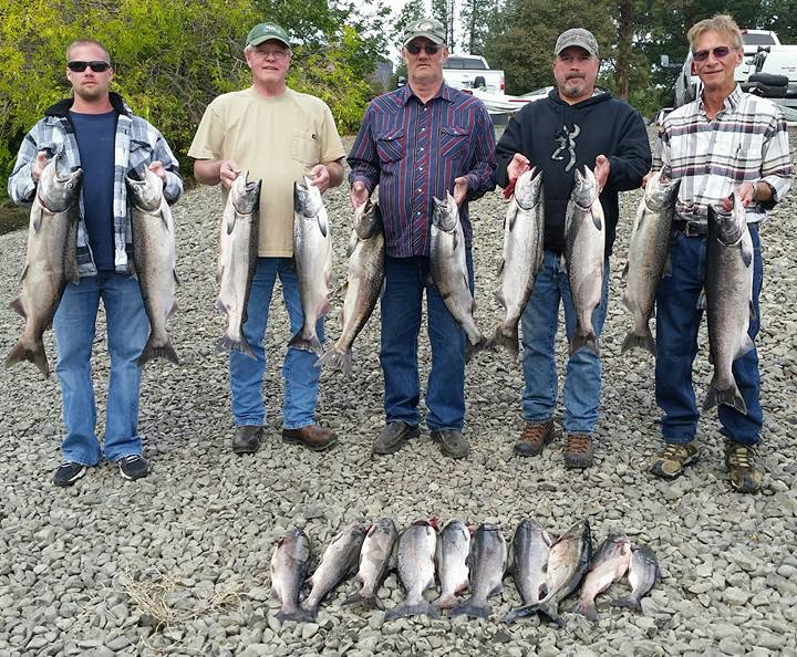 guided klickitat river fishing for fall salmon